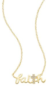 Saks Fifth Avenue New Pava Cross Faith Pendant Necklace