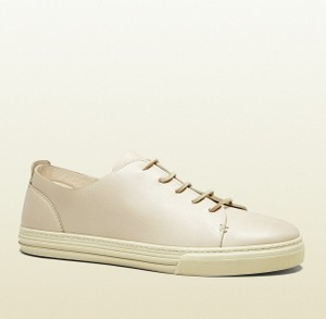 Gucci White 9022 Men's Leather Lace-up Sneaker 342038 Size 11 G/Us 11.5 Shoes