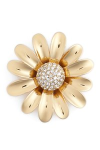 Kate Spade gold plated floral brooch