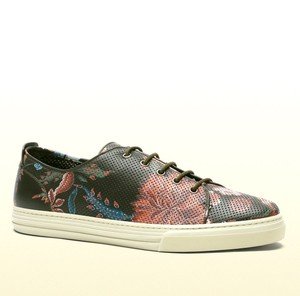 Gucci Men's Flower Print Leather Lace-up 342049 3035 Size 10.5 G/us 11