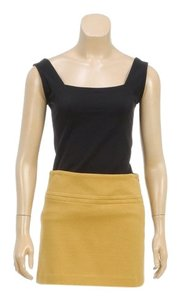 Theory Mini Skirt Dark Yellow
