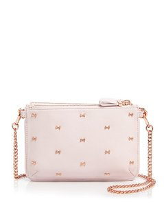 Ted Baker Leather Pink Gold New With Cross Body Bag