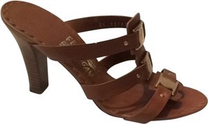 Salvatore Ferragamo Tan Leather Sandals