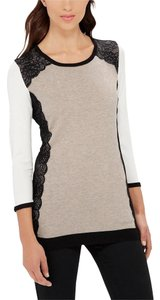 The Limited Lace Colorblock Sweater