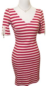 Banana Republic short dress Red, White on Tradesy