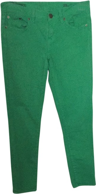 Item - Green Coated Toothpick Straight Leg Jeans Size 29 (6, M)