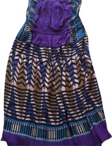 Ann Taylor LOFT short dress Strapless Summer Purple on Tradesy