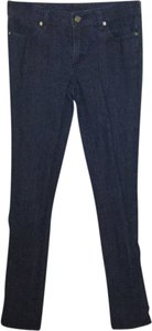 Tory Burch Straight Leg Jeans-Dark Rinse