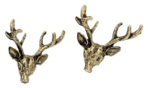 Deer Head With Antlers Earrings