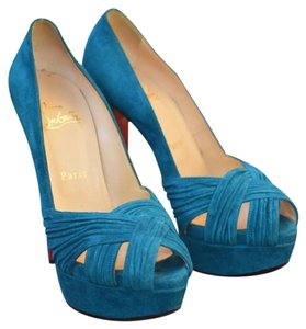 Christian Louboutin Teal Platforms