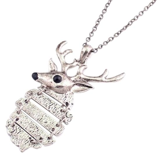 Other Deer Head With Antlers Necklace