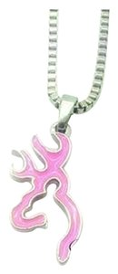 Other Deer Necklace in Pink