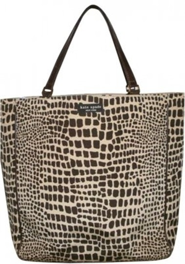 Preload https://item4.tradesy.com/images/kate-spade-giraffe-print-canvasleather-tote-194223-0-0.jpg?width=440&height=440