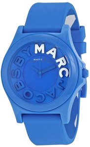 Marc by Marc Jacobs Marc Jacobs Women's Sloane Blue Silicone Watch MBM4024