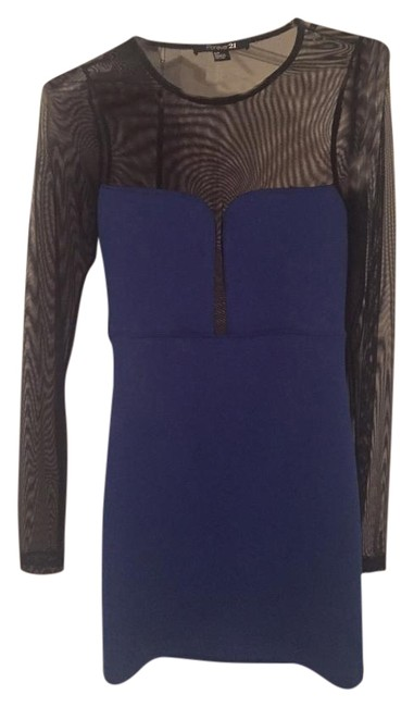 Preload https://img-static.tradesy.com/item/19422659/forever-21-blue-with-black-mesh-mini-night-out-dress-size-4-s-0-1-650-650.jpg