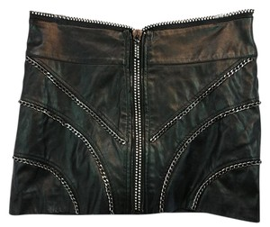 bebe Black Leather Skirt