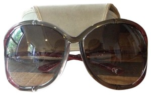 Tom Ford Tom Ford Oversized Dgrad Bamboo Frame Sunglasses