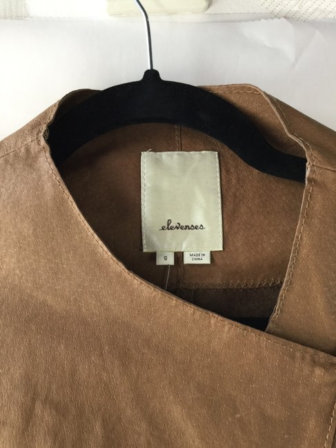 Anthropologie Brown Leather Jacket