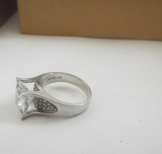 Victoria Wieck Victoria Wieck of Beverly Hills .925 Sterling Silver Absolute Square Cut with Pav'e sides Size 8