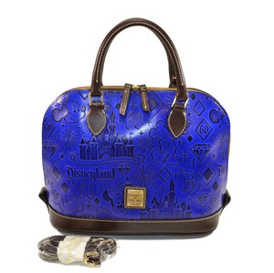Dooney & Bourke 60th Anniversary Diamond Celebration Disneyland Zip Zip Leather Satchel in Blue
