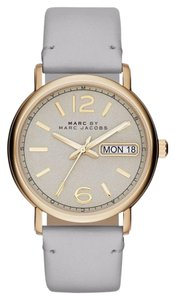 Marc by Marc Jacobs Marc Jacobs Women's Fergus Grey Leather Watch MBM8654