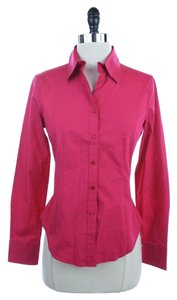 Talbots Button Down Shirt RED - some may see hot pink but i definitely see a shade of lipstick red