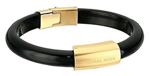 Michael Kors MICHAEL KORS LOGO PLAQUE BRACELET GOLD BLACK W BAG MKJ5596 $95