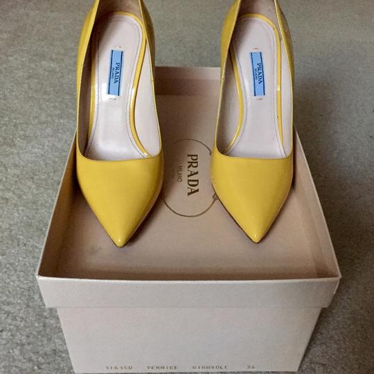Prada Yellow Pumps