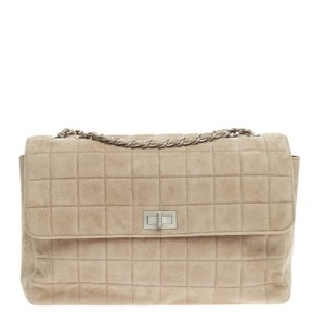 Chanel Chocolate Bar Suede Shoulder Bag