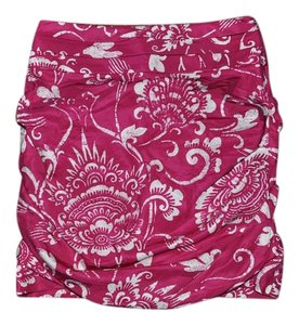 Leifsdottir Ruched Date Night Mini Skirt Fuchsia