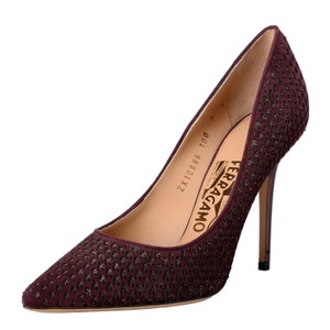 Salvatore Ferragamo Purple Red Pumps