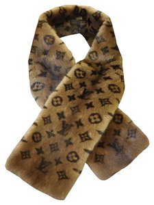 Louis Vuitton Louis Vuitton Mink Scarf Monogram Stole