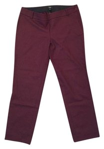 J.Crew J Crew City Fit Straight Pants Burgundy