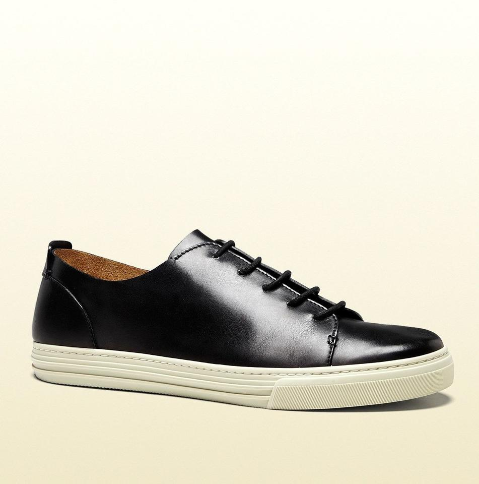 fb9caf73108 Gucci Black Hysteria Men s Leather Lace-up W Hysteria Crest 342037 Size 12  G ...