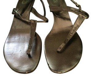coop Barneys New York metallic brown Sandals
