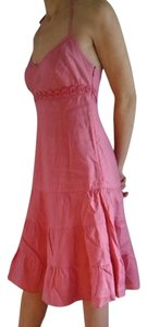 J.Crew short dress Pink Linen on Tradesy