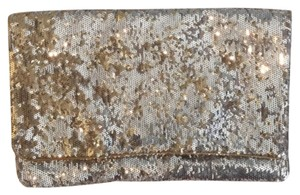 BCBGMAXAZRIA Gold and Silver Clutch