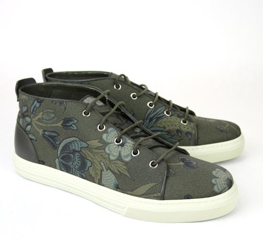 Gucci Green 3364 Mens Floral Fabric Lace-up Sneaker 342048 Size 9 G/Us 9.5 Shoes