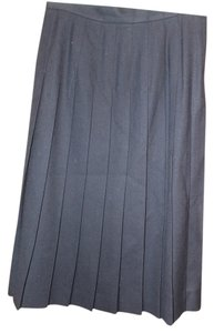 Talbots Petite Pleated Wool Skirt Navy