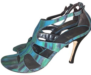 Stuart Weitzman Blue green Sandals