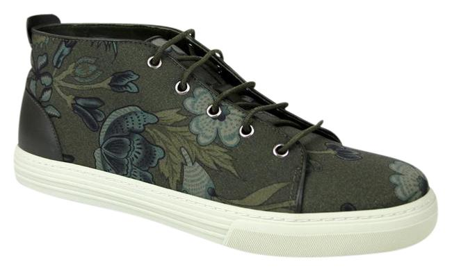 Item - Green 3364 Mens Floral Fabric Lace-up Sneaker 342048 Size 10.5 G/Us 11 Shoes