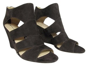 Via Spiga Brown Suede Wedge dark borwn Sandals