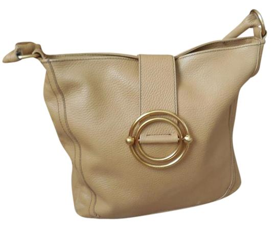 Furla Logo Leather Concentric Circles Shoulder Bag