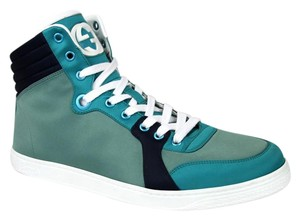 Gucci Multi-color 3663 Mens Satin Fabric High-top Sneaker 337451 Size 10 G/Us 10.5 Shoes