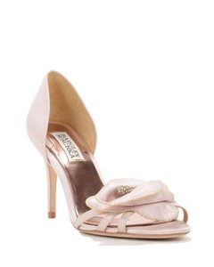Badgley Mischka Wedding Heels Pink Satin Pumps