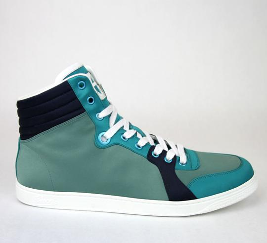Gucci Multi-color 3663 Mens Satin Fabric High-top Sneaker 337451 Size 10.5 G/Us 11 Shoes