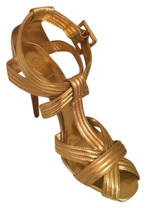 Tory Burch Sandals Gold; Metallic Formal