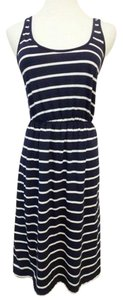 Old Navy short dress Navy Blue, White Old Tank Nautical Stripes Small on Tradesy