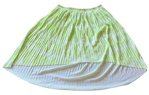 American Eagle Outfitters Skirt Neon green/white