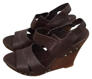 BCBGMAXAZRIA Brown Wedges